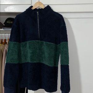 Pacsun Sherpa half zip sweatshirt